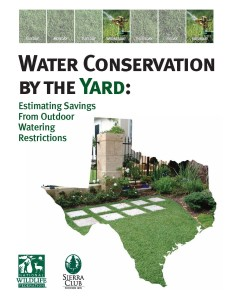 water consv by the yard